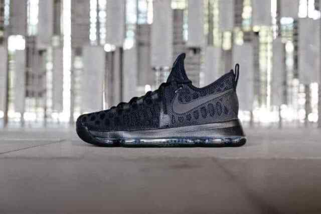 e589179aa4d Nike Zoom KD 9 All Triple Black Space Blackout Kevin Durant Out 843392-001  Sz