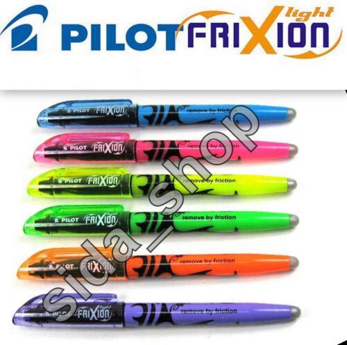 PILOT 2x Textmarker FRIXION light radierbar gelb grün pink orange blau violett