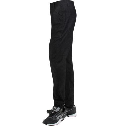 black Publish Dextor Brushed Two Tone Twill Jogger Pants