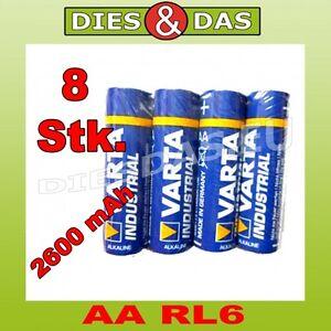Heimwerker Stetig 8 Stk Varta Aa Mignon Lr6 4006 Industrial Batterie In 4er Folie 8x SchöNe Lustre Elektromaterial