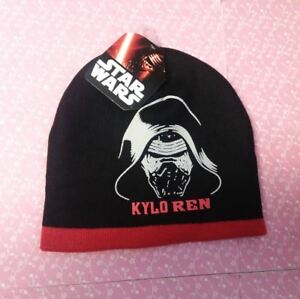 8834cb7e2ae8f Star Wars KYLO REN Black   Red Kids Beanie Hat Boys One Size New ...