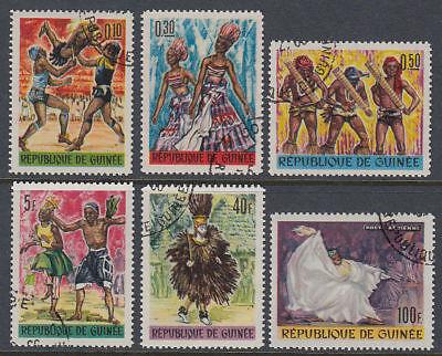 Guinea Guinée 1966 Used Mi.342/47 A Tänze Tanzen Dancing st3254 Briefmarken
