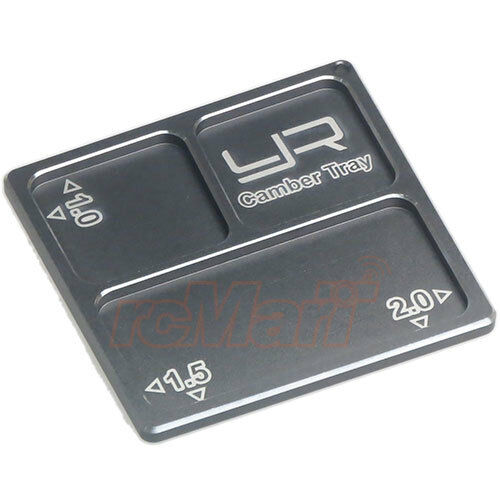 Yeah Racing 2 In 1 Aluminum Camber Gauge Tray 1.0 1.5 2 For 1:10 RC #YA-0330GM