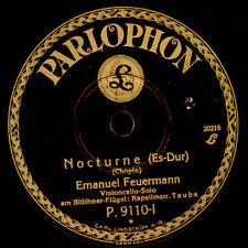 EMANUEL FEUERMANN -CELLO- Chopin: Nocturne Es-Dur/Sarasate: Zigeunerweisen G3340