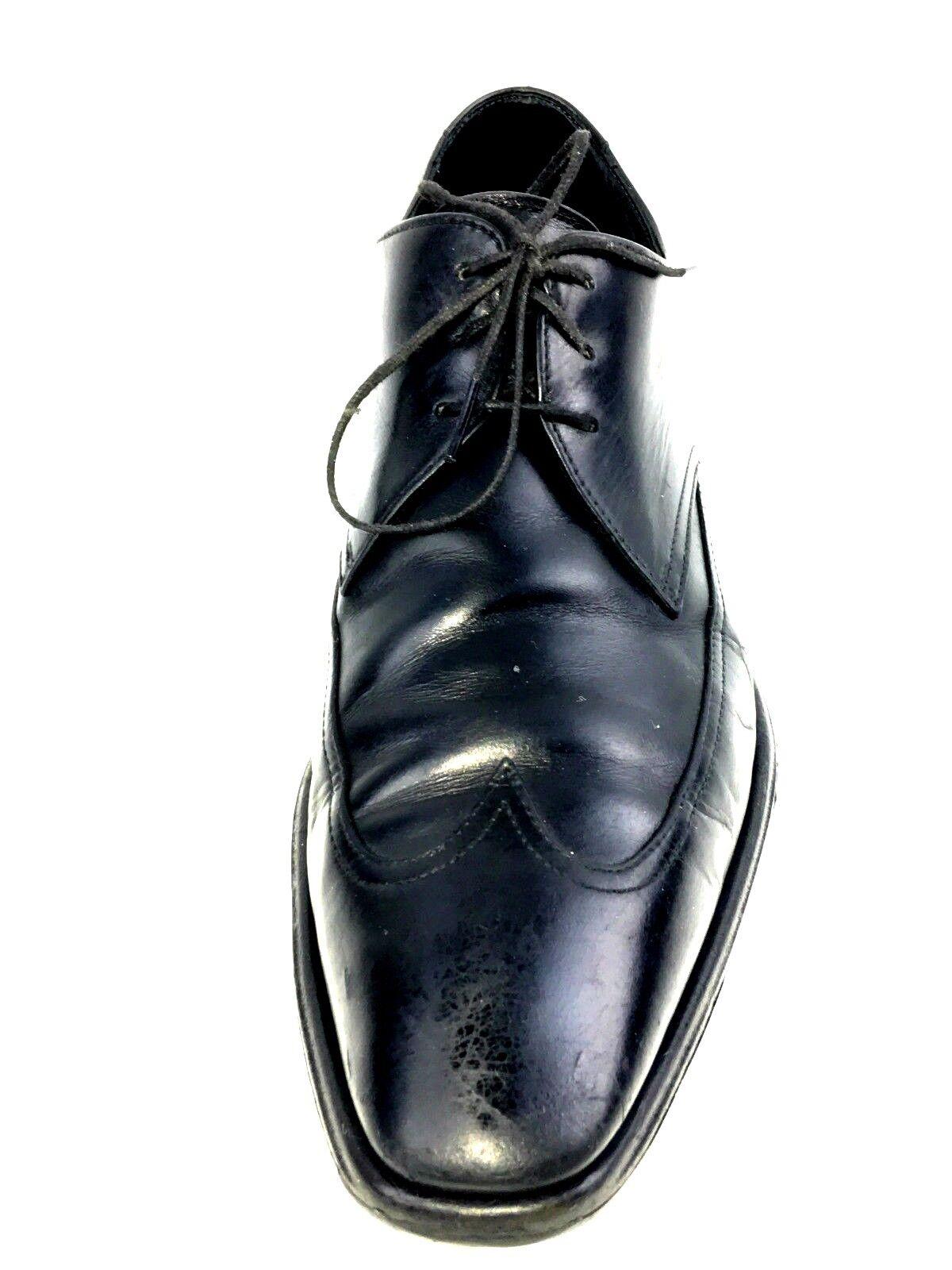 qualità garantita Hugo Hugo Hugo Boss Wingtip Uomo Fashion Leather Oxford Dress scarpe Brogue Blk  Dimensione 8 US  negozio fa acquisti e vendite