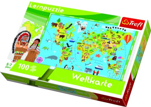 Trefl Lernpuzzle 100 Teile NEU 15513 Weltkarte