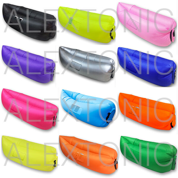 Fast Inflatable Air Beds Sleeping Camping Hiking Hangout  Outdoor Beach Lounger  sale