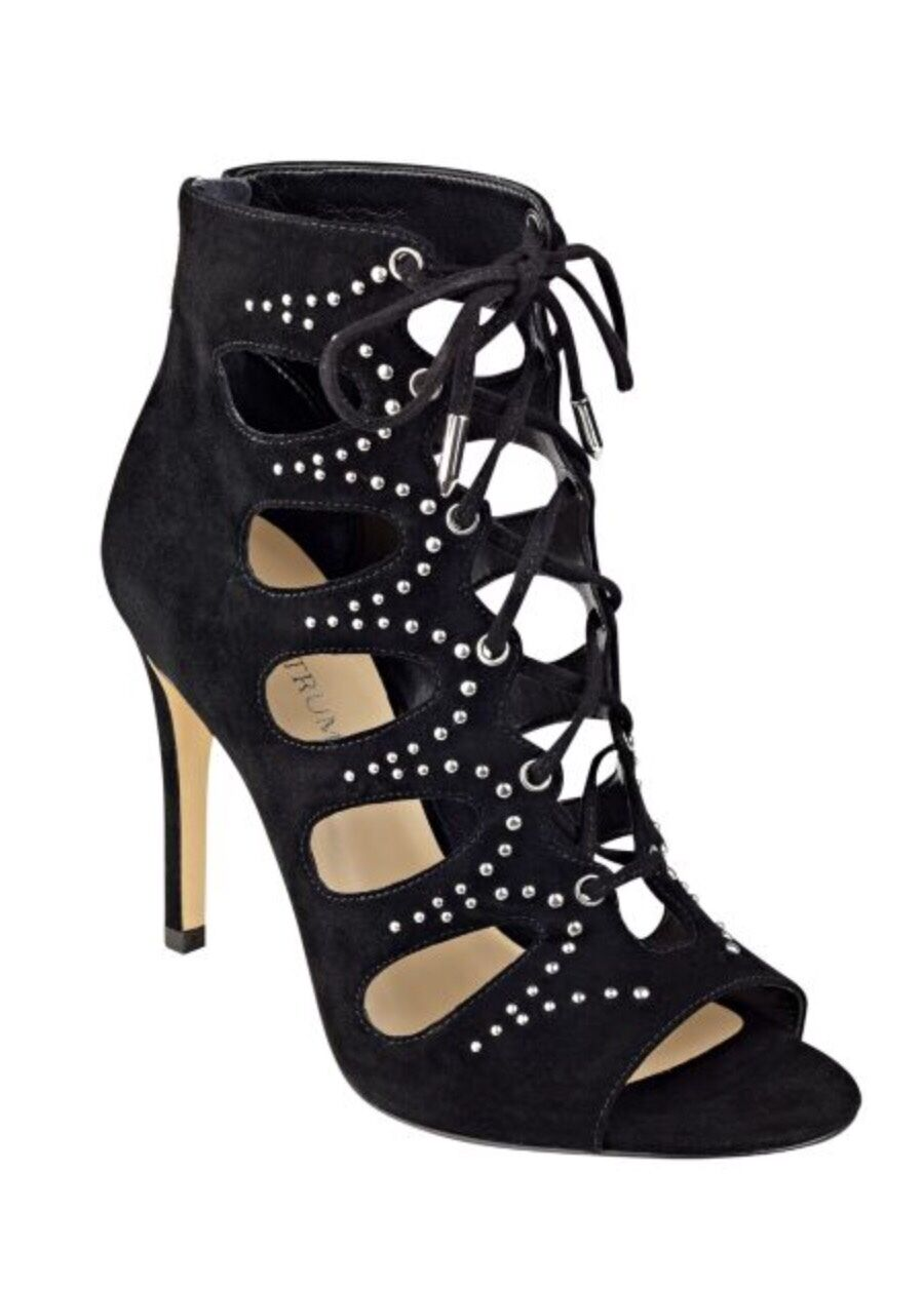 Ivanka Trumph Dazy Embellished Suede Lace-Up Booties size 8