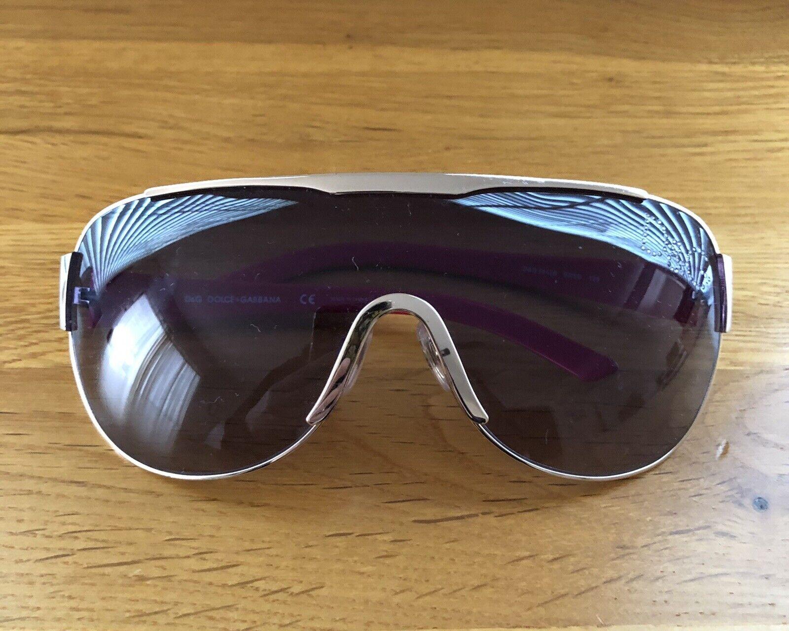 D&G DOLCE & GABBANA Hot Pink Gold Metal Crystal Sunglasses D&G 6011B 03/8G 125