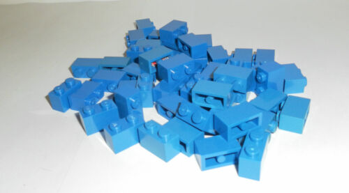 LEGO 50 x Basisstein Baustein blau 1x2 blue basic brick 3004 300423