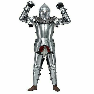 Medieval Knight's Armor Set Steel Armor Protection with leather strap