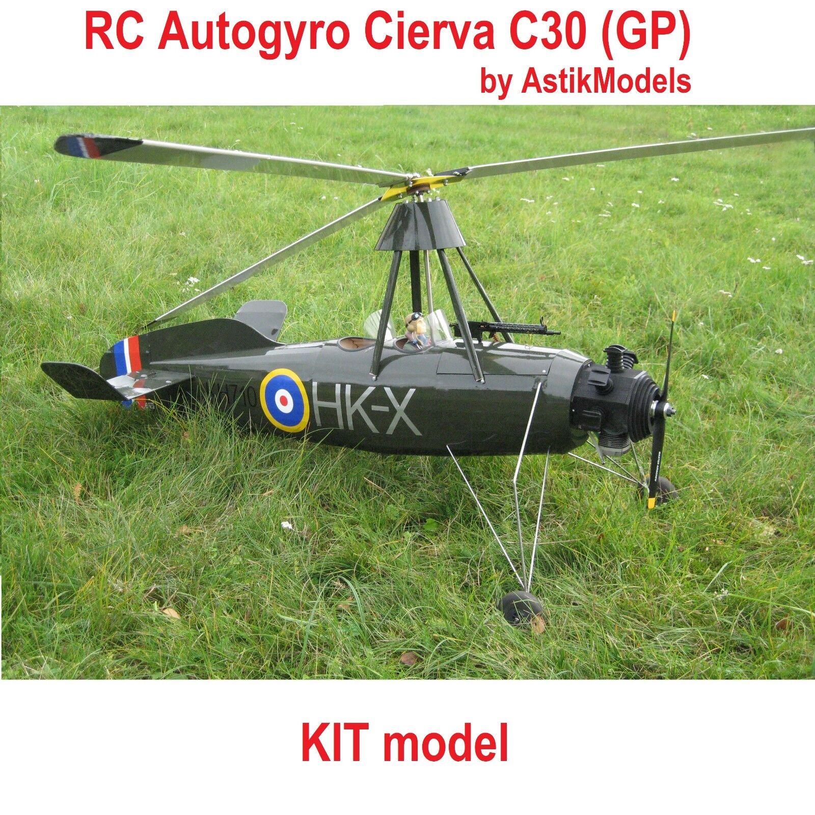 RC Cierva c30 armazón helicópteros kit modelo de astikmodels Dwarfs Autogyro