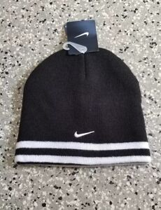 f94cf3cb421 New Nike Youth Boys Girls Unisex Knit Reversible Beanie Hat Size   8 ...