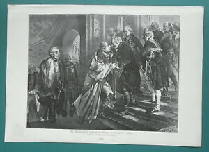FREDERICK-THE-GREAT-Neisse-Meeting-with-Joseph-II-1892-Victorian-Era-Print