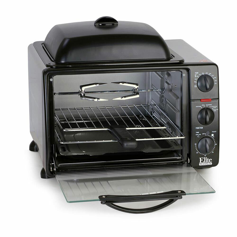 Toaster Oven redisserie Grill Griddle Kitchen Countertop Electric Multi-Function