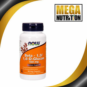 NOW-Foods-Beta-1-3-1-6-D-Glucan-100mg-90-Veggie-Caps-Immune-Support-Maitake