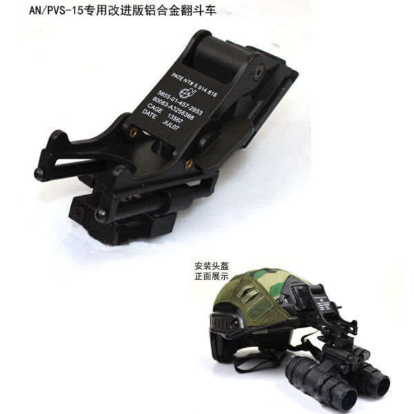 Tactical Aluminum Alloy Helmet Mount for AN PVS-15 PVS15 NVG  Night Vision Goggle  hot limited edition