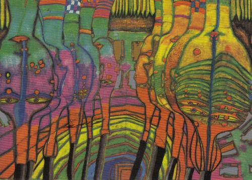 Das Ende der Griechen Kunstkarte Hundertwasser Postcard Art