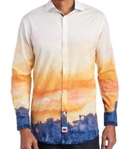 Jerry-Garcia-Mens-L-S-Shirt-Landscape-Print-Size-XXL-Stretch-NWT