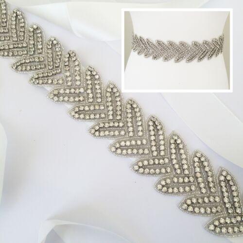 FLEUR Bridal Sash Bridal Belt Rhinestone Diamante Pearl Wedding Dress Sash