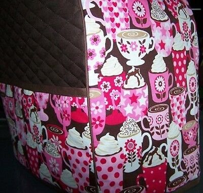 Coffee Latte Quilted Fabric Cover for Elite Keurig Brewer NEW