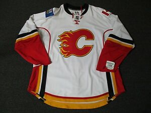 New Calgary Flames Pro Stock Reebok Edge 1.0 Blank Hockey Jersey ... dbf0493c3