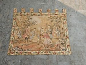Vintage French Beautiful Scene Tapestry 99X91cm (A696)
