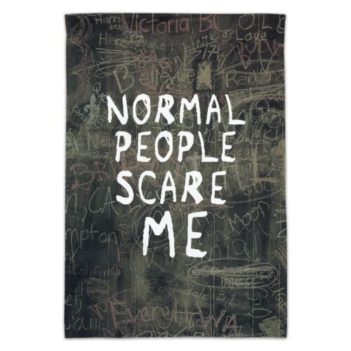 Normal People Scare Me Funny Garden Yard Flag