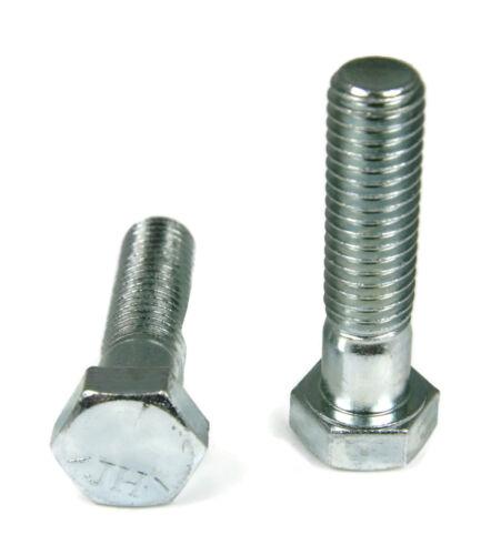 """5//16/""""-18 x 1-1//4/"""" FT Qty-100 Hex Cap Screws Grade 5 Zinc"""