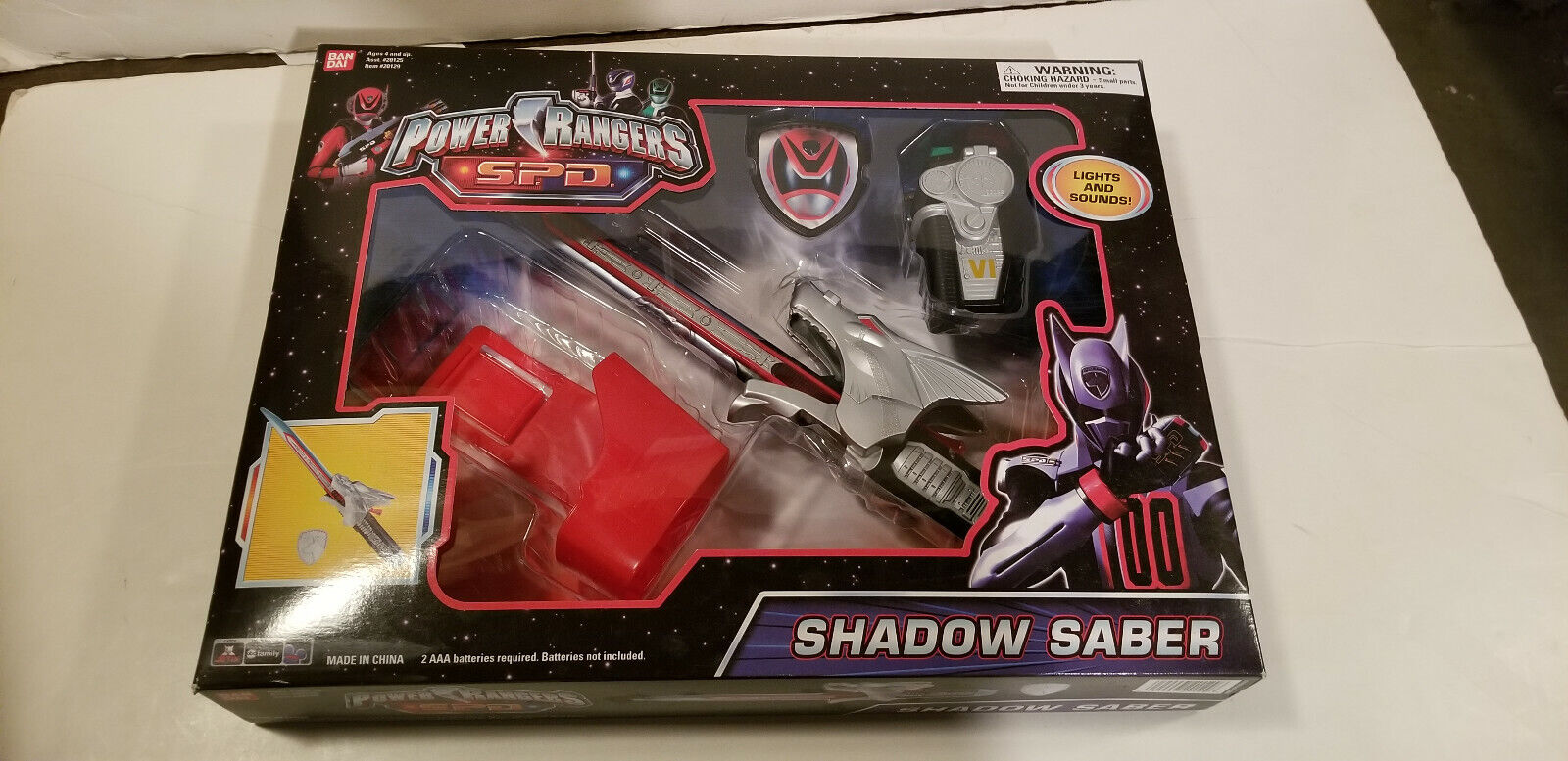 Power Rangers SPD SHADOW SABER Dekanger Hundgie Cruger Blade Super Sentai LICHT
