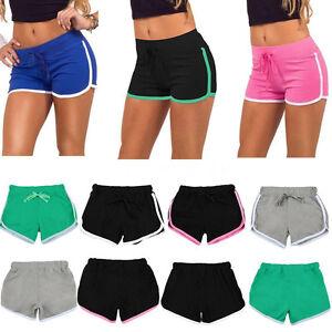 sommer damen stoff kurze hose gymnastik trainings pants yoga shorts sport panty ebay. Black Bedroom Furniture Sets. Home Design Ideas