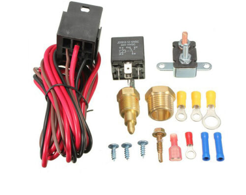 210-195-Degree-Engine-Cooling-Fan-Thermostat-Temperature-Switch-Sensor-Relay kit