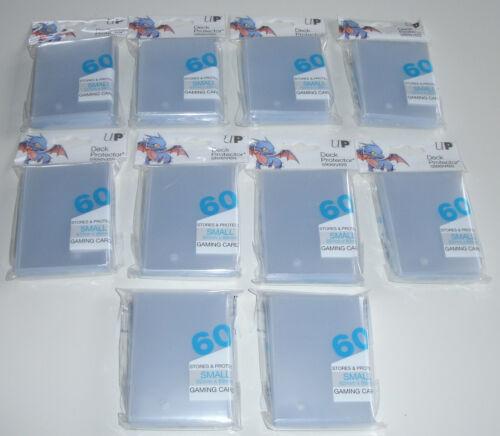Zubehör Yugioh 10 x Ultra Pro small Sleeves transparent 60 Stück Schutzhüllen