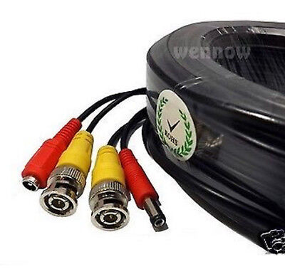 Premium Quality 4x25ft Video Power BNC Cable for Zmodo CCTV Security Camera