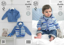 b22371aa82be0 UKHKA 122 Baby Slipover Cardigan Waistcoat DK Knitting Pattern Prem ...