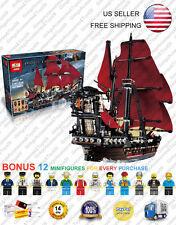 16009 Queen Anne's Revenge Ship 4195 Pirates of The Caribbean Blocks 1151 Pcs