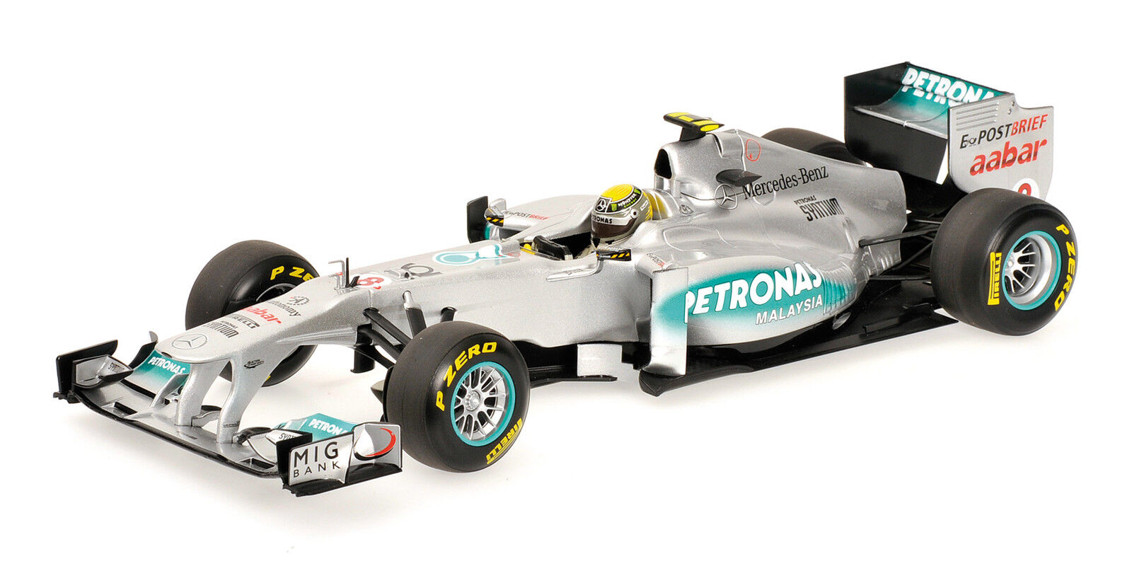 Mercedes gp petronas  f1 team mgp w02 nico rosberg 2011 1 18 model 110110008  commander maintenant les prix les plus bas
