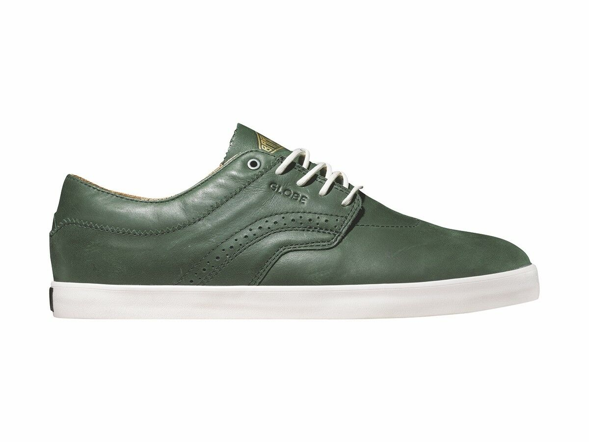Globe Trainers Loafer Lace-Up the Taurus Green Leather Rubber Sole
