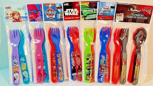 Cars Frozen Choice Fork /& Spoon 4 pc new ZAK BPA Free Star Wars,Ninja Turtles