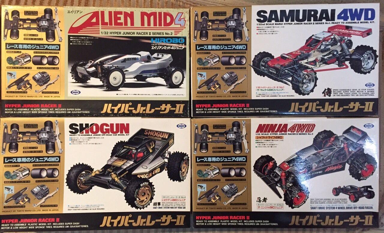 MARUI SAMURAI NINJA HIROBO Alien Mid4 Shogun SET japan GÖR TILL TAMIYA MINI 4WD