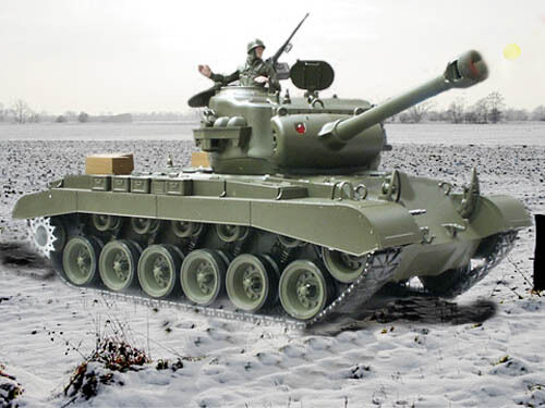 NEW Heng Long 1 16 M26 Pershing Snow Leopard BB RC Tanks Upgraded 2.4GHz Version
