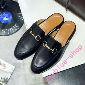release date: available low priced Mens Slip A+ Mules Backless Slippers Synthetic Leather Loafers ...