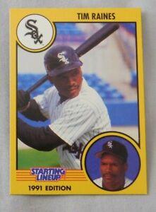 1991 Starting Lineup Tim Raines Chicago White Sox Baseball Card