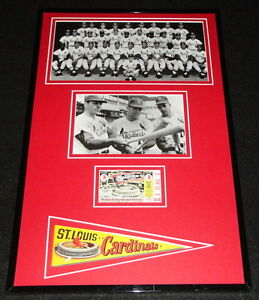 1967-St-Louis-Cardinals-Framed-World-Series-Repro-Ticket-amp-Photo-Display