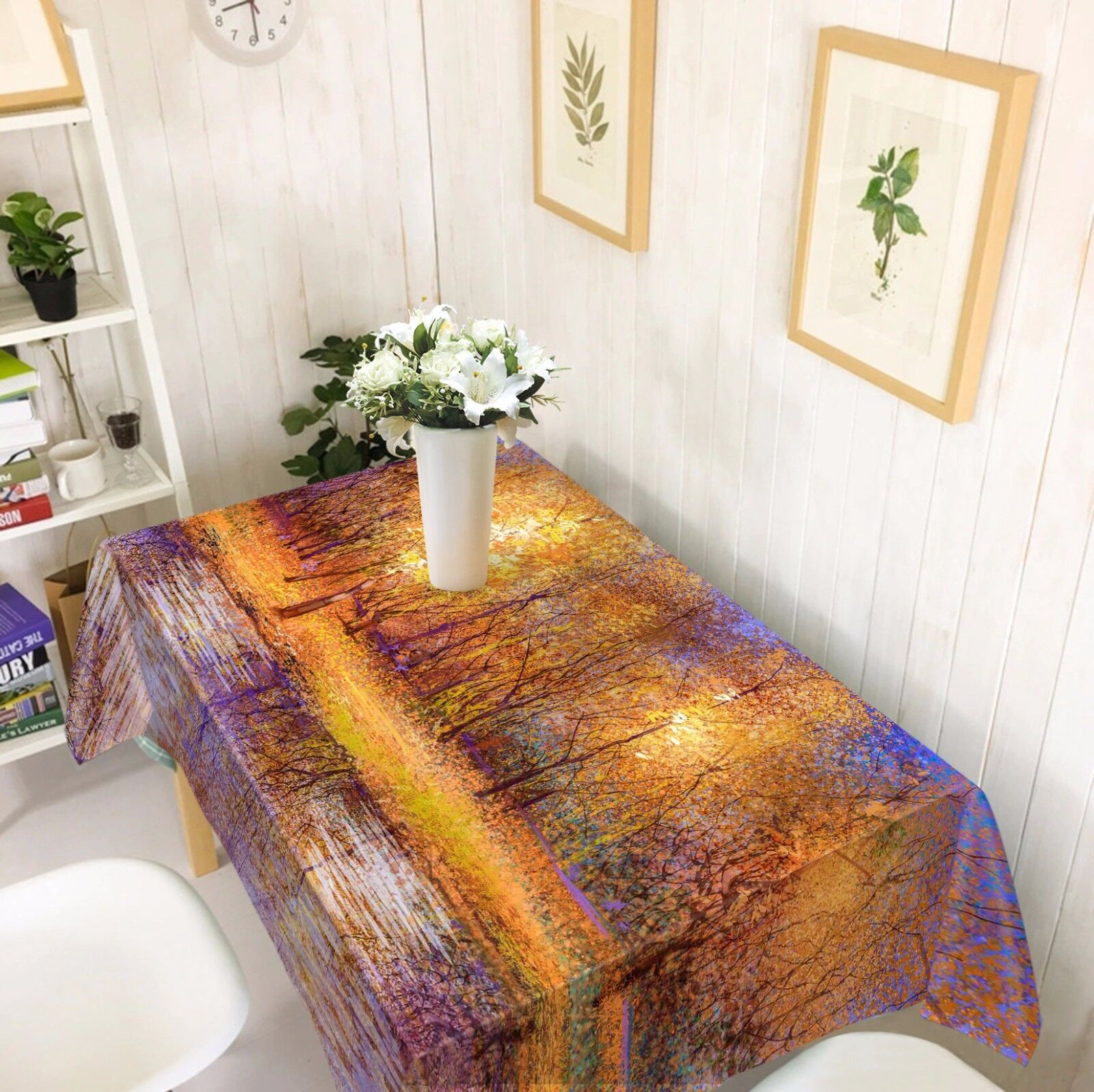 3D Forest 44 Nappe Table Cover Cloth fête d'anniversaire AJ papier peint Royaume-Uni Citron