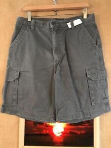 6562f118368c Croft   Barrow men s gray cargo shorts size 32 cotton solid flat zip fly