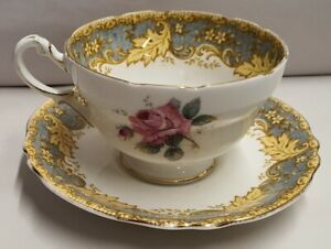 Paragon-Fine-Bone-China-Cup-amp-Saucer-Pattern-A961-1-c1939-49-Made-in-England