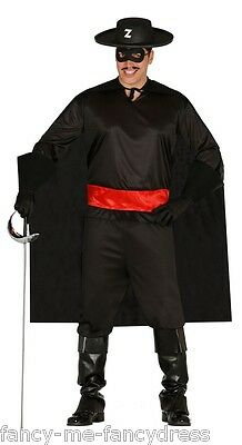 Mens Masked Bandit TV Film Hero Villain Thief Fancy Dress Costume Outfit  Large