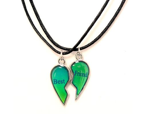 Best Friends Mood Broken Heart Pendants 2 Necklace Bff Friendship Ebay