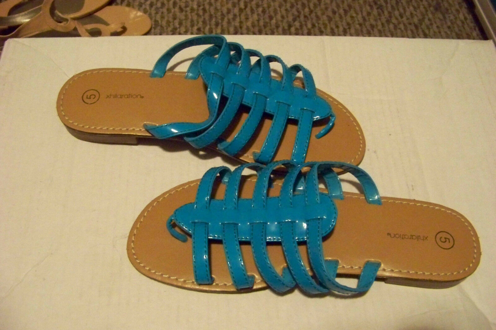 womens xhilaration size blue strappy sandals shoes size xhilaration 5 8286c0